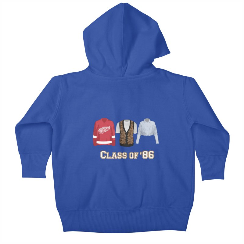 Class of '86 Kids Baby Zip-Up Hoody by Angela Tarantula