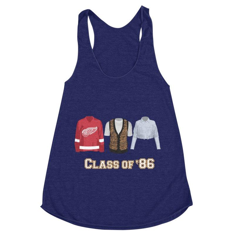 Class of '86 Women's Racerback Triblend Tank by Angela Tarantula