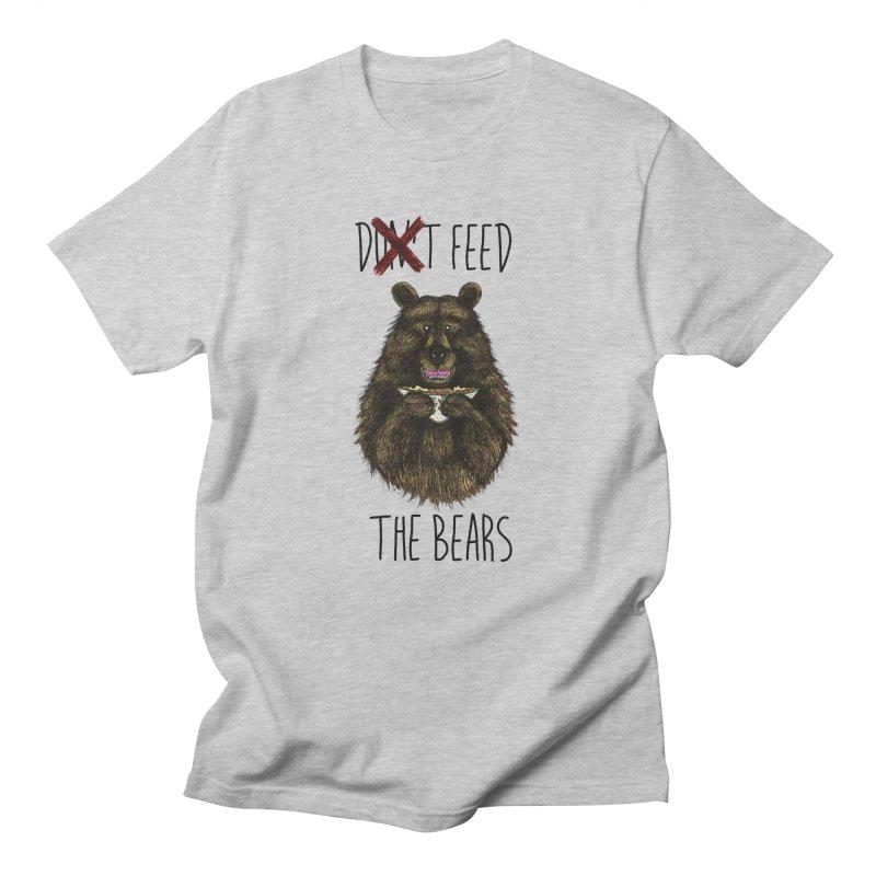 Don't Feed the Bears Men's T-Shirt by Angela Tarantula