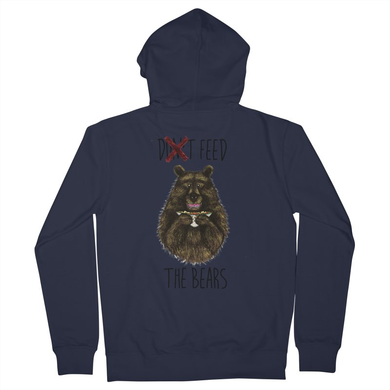 Don't Feed the Bears Women's Zip-Up Hoody by Angela Tarantula
