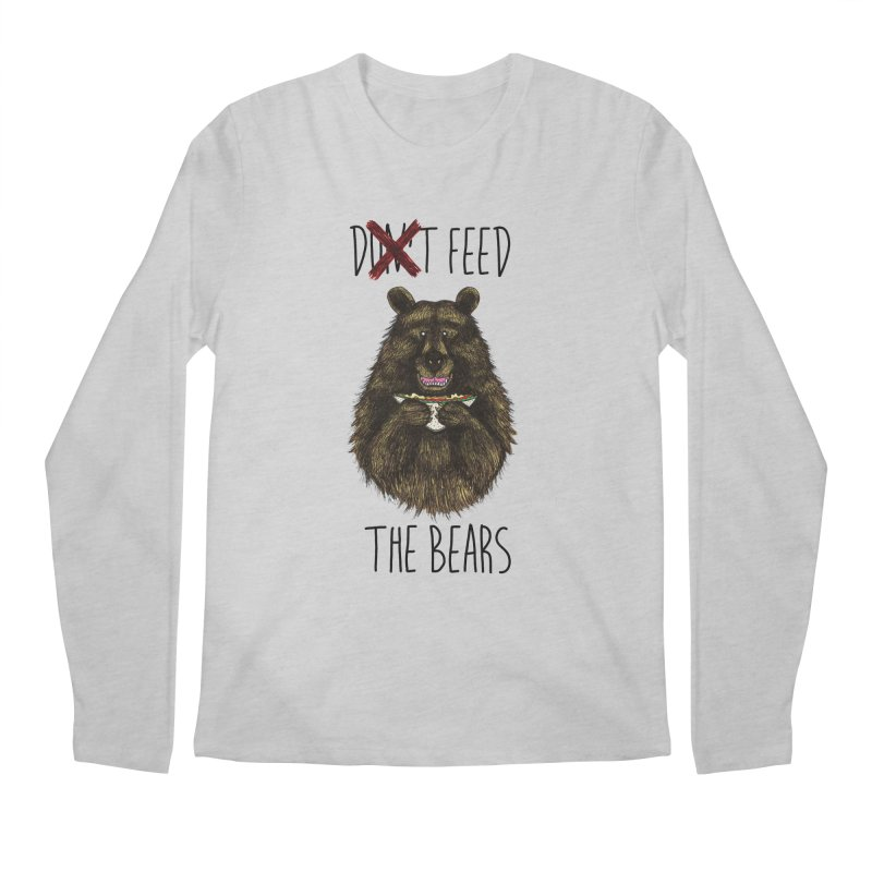 Don't Feed the Bears Men's Longsleeve T-Shirt by Angela Tarantula