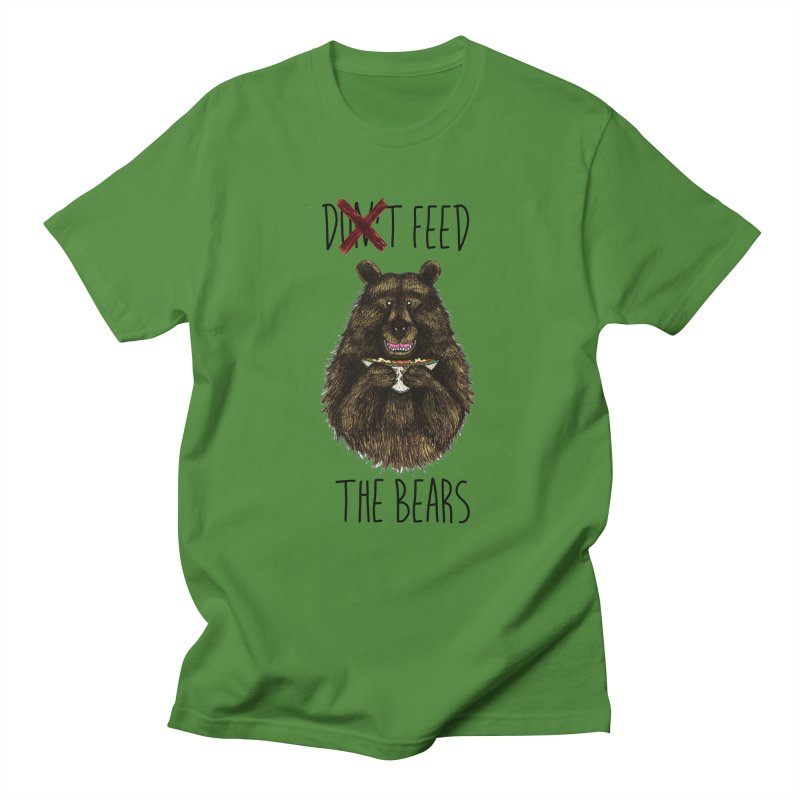 Don't Feed the Bears Women's Unisex T-Shirt by Angela Tarantula
