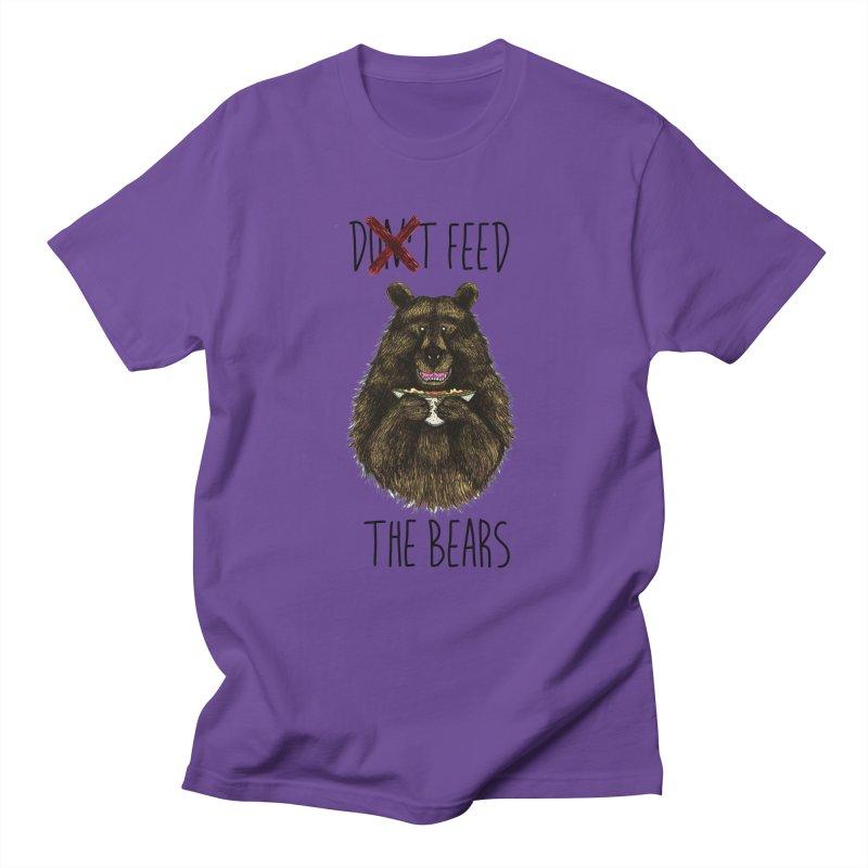 Don't Feed the Bears Women's Regular Unisex T-Shirt by Angela Tarantula