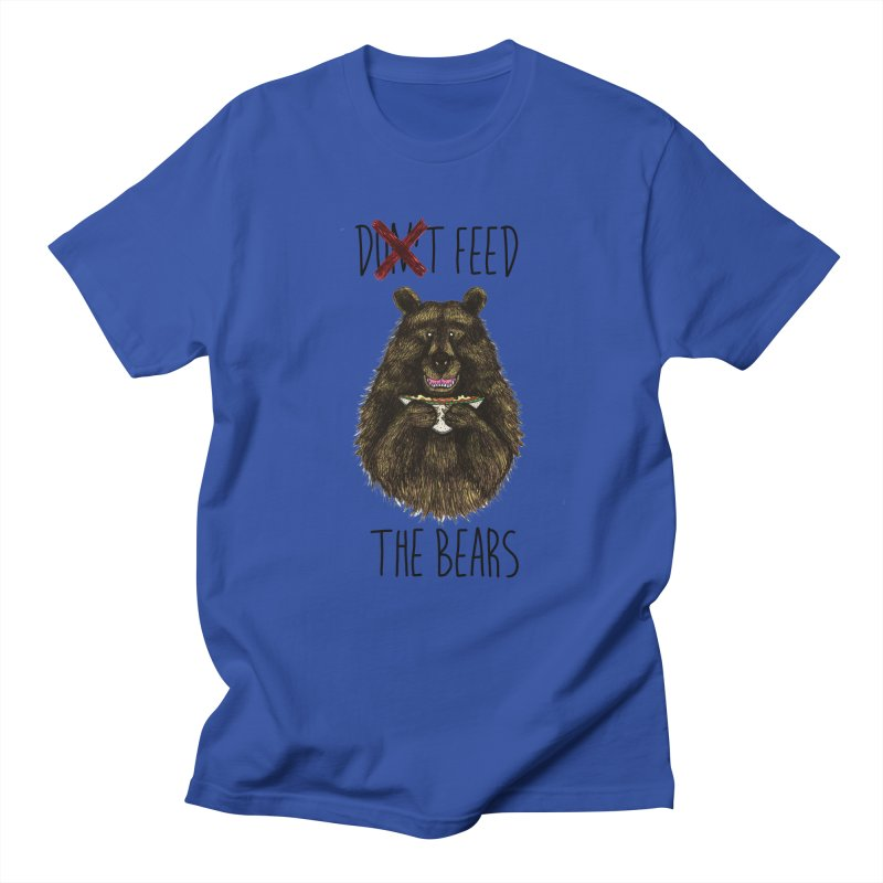 Don't Feed the Bears Women's Regular Unisex T-Shirt by Angela Tarantula