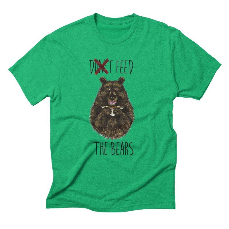 Don't Feed the Bears Men's Triblend T-Shirt by Angela Tarantula