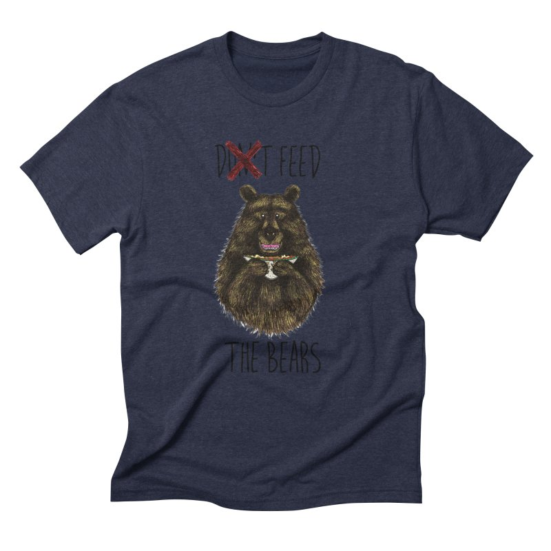 Don't Feed the Bears Men's Triblend T-Shirt by Angela Tarantula