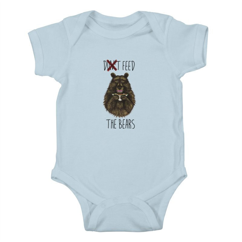 Don't Feed the Bears Kids Baby Bodysuit by Angela Tarantula