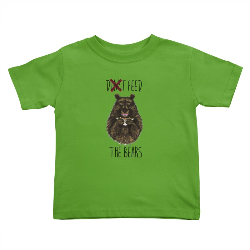 Don't Feed the Bears Kids Toddler T-Shirt by Angela Tarantula