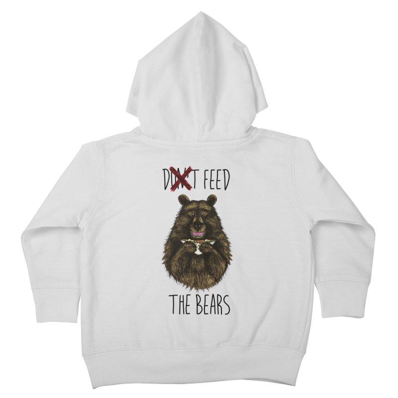 Don't Feed the Bears Kids Toddler Zip-Up Hoody by Angela Tarantula