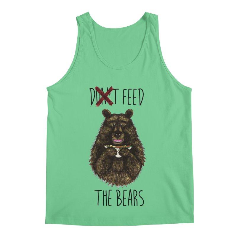 Don't Feed the Bears Men's Tank by Angela Tarantula