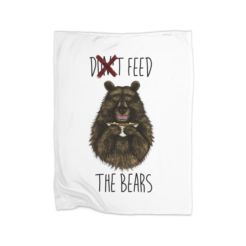 Don't Feed the Bears Home Blanket by Angela Tarantula