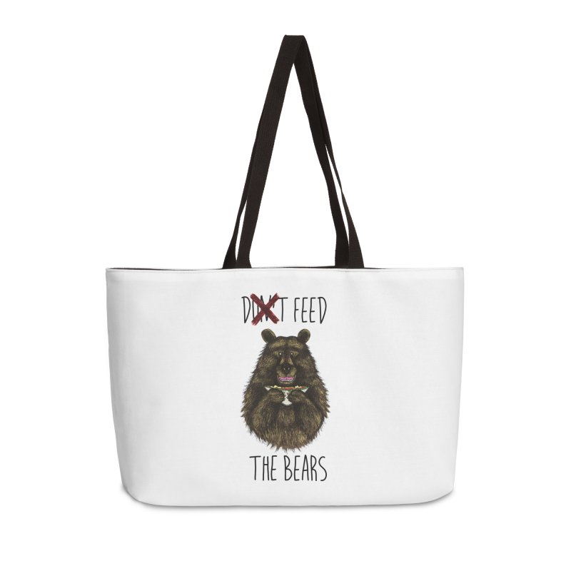 Don't Feed the Bears Accessories Weekender Bag Bag by Angela Tarantula