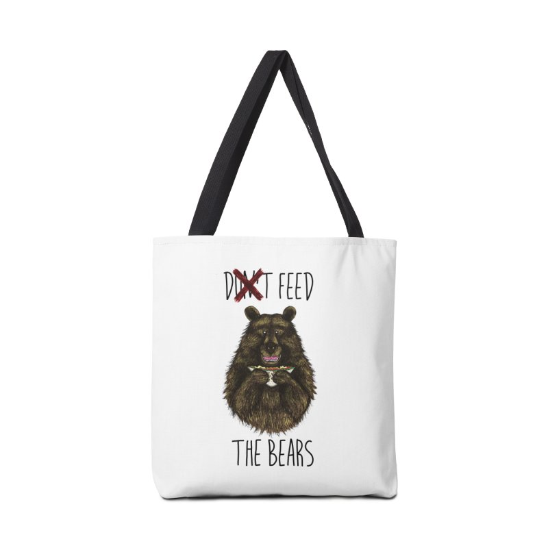 Don't Feed the Bears Accessories Tote Bag Bag by Angela Tarantula