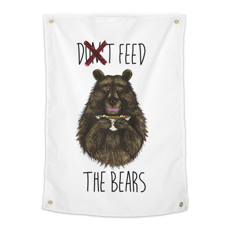 Don't Feed the Bears Home Tapestry by Angela Tarantula