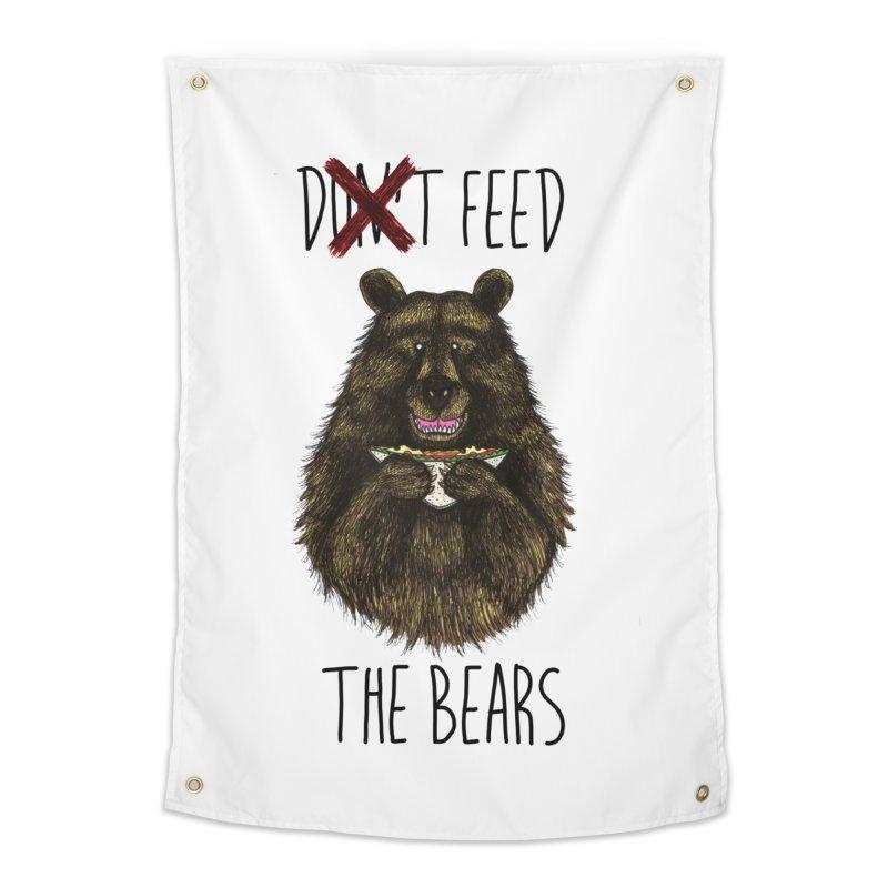 Don't Feed the Bears Home Tapestry by Angela Tarantula