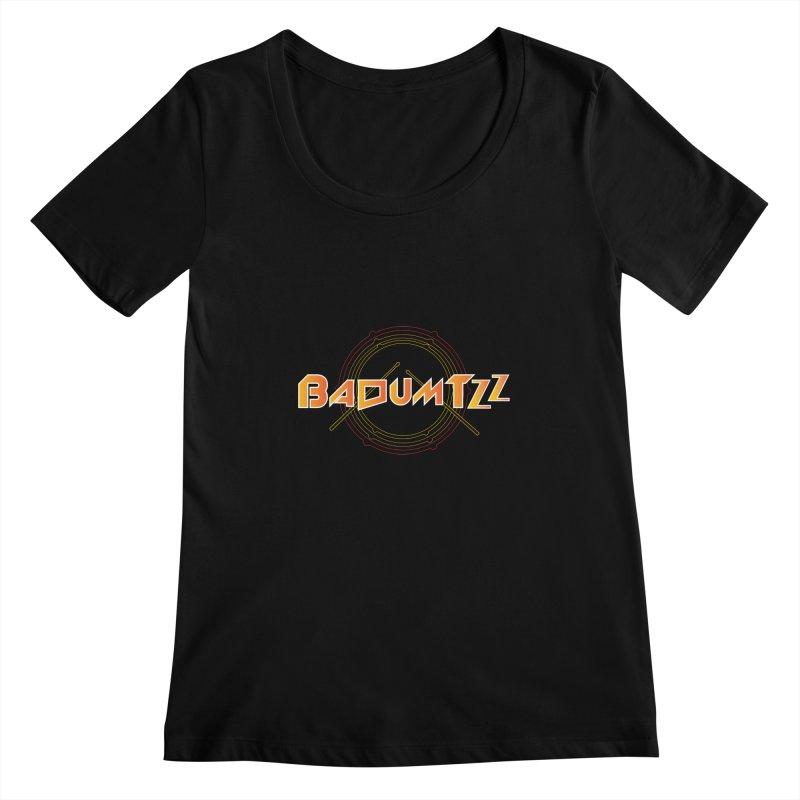BaDumTZz Women's Scoopneck by Angela Tarantula