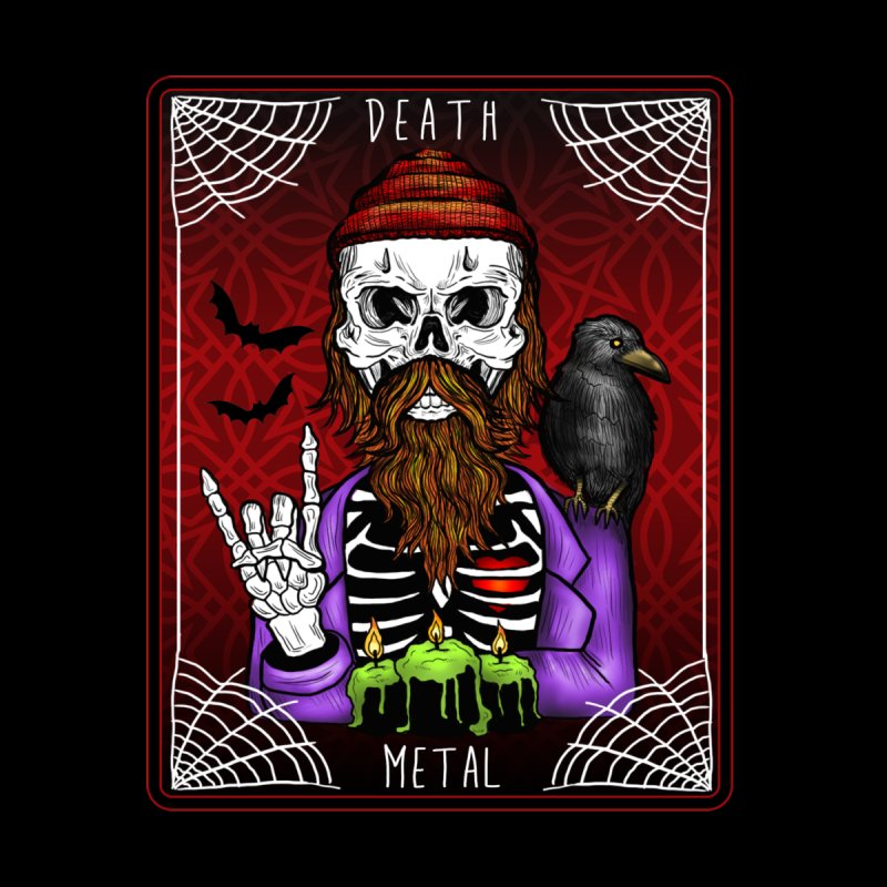 Death Metal Tarot Accessories Beach Towel by Angela Tarantula