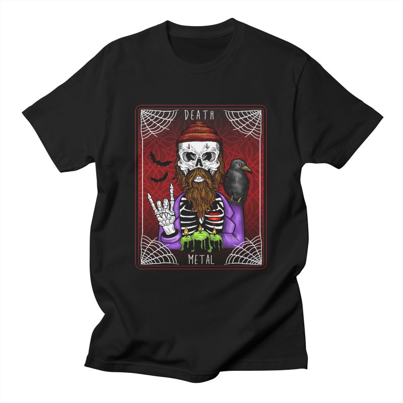 Death Metal Tarot Men's T-Shirt by Angela Tarantula