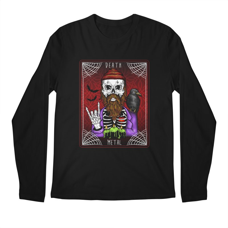Death Metal Tarot Men's Regular Longsleeve T-Shirt by Angela Tarantula