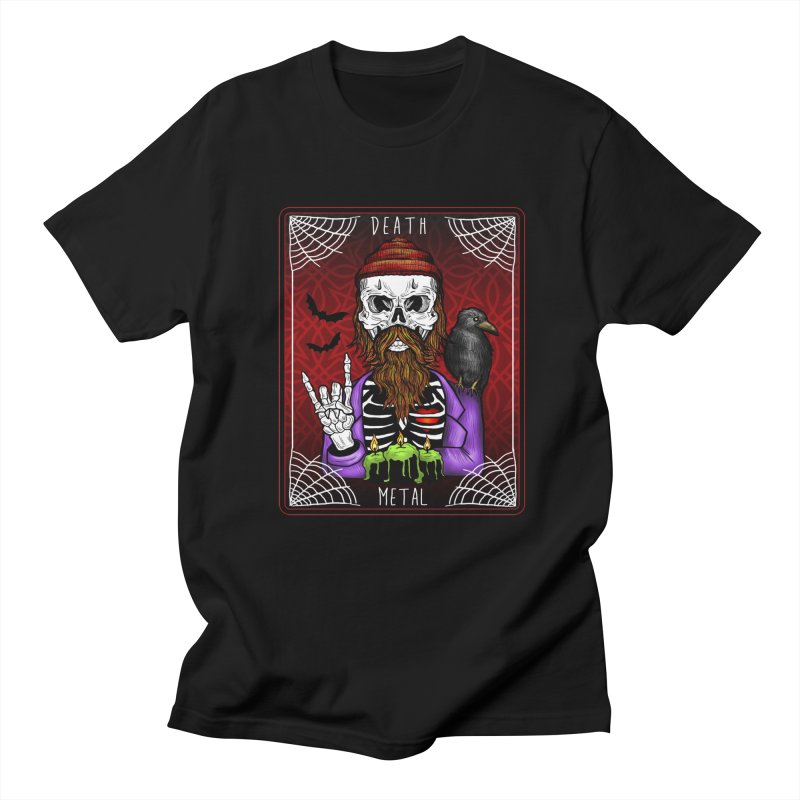 Death Metal Tarot Men's T-Shirt by Angela Tarantula