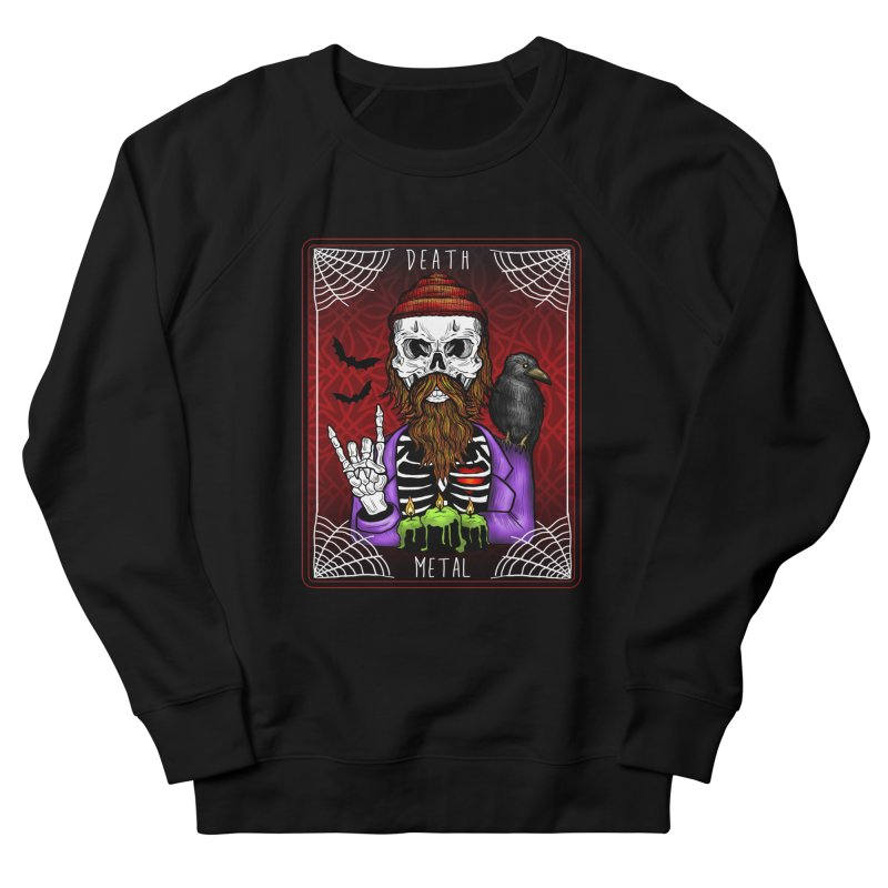 Death Metal Tarot Men's French Terry Sweatshirt by Angela Tarantula
