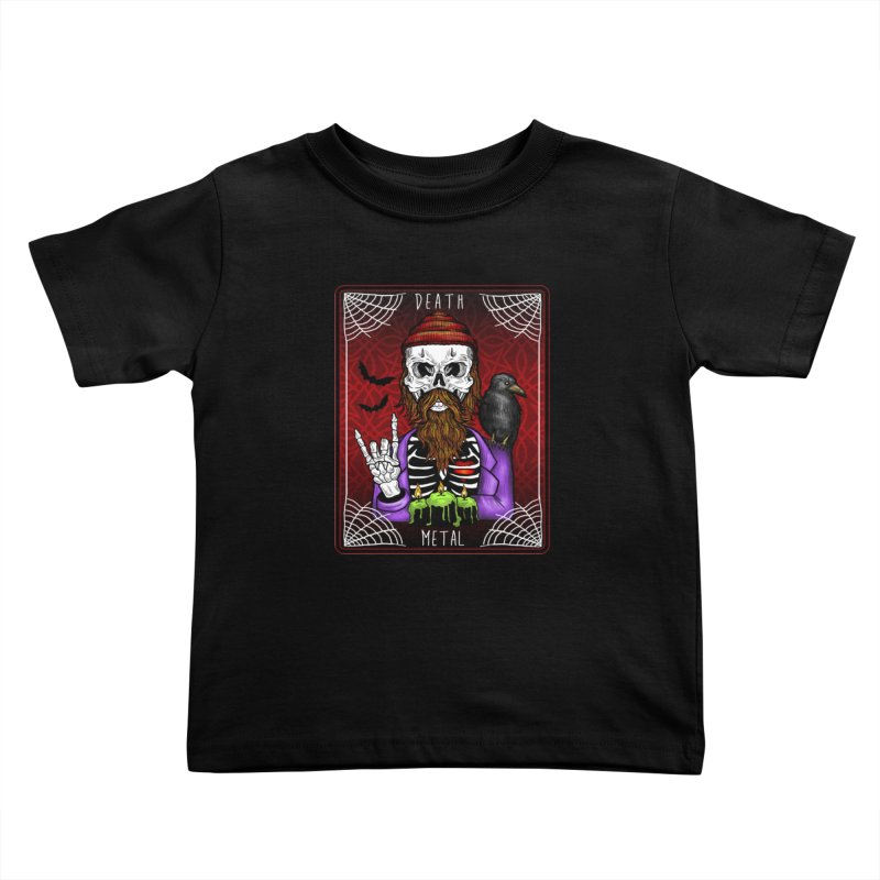 Death Metal Tarot Kids Toddler T-Shirt by Angela Tarantula