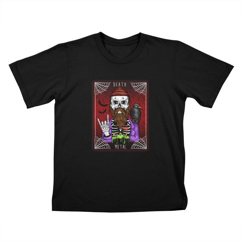 Death Metal Tarot Kids Toddler T-Shirt by Angela Tarantula