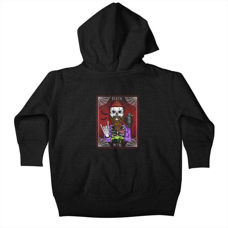 Death Metal Tarot Kids Baby Zip-Up Hoody by Angela Tarantula