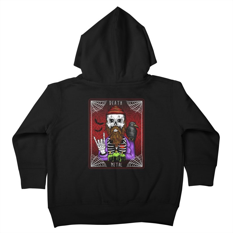 Death Metal Tarot Kids Toddler Zip-Up Hoody by Angela Tarantula