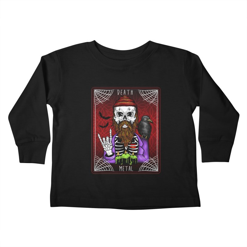 Death Metal Tarot Kids Toddler Longsleeve T-Shirt by Angela Tarantula