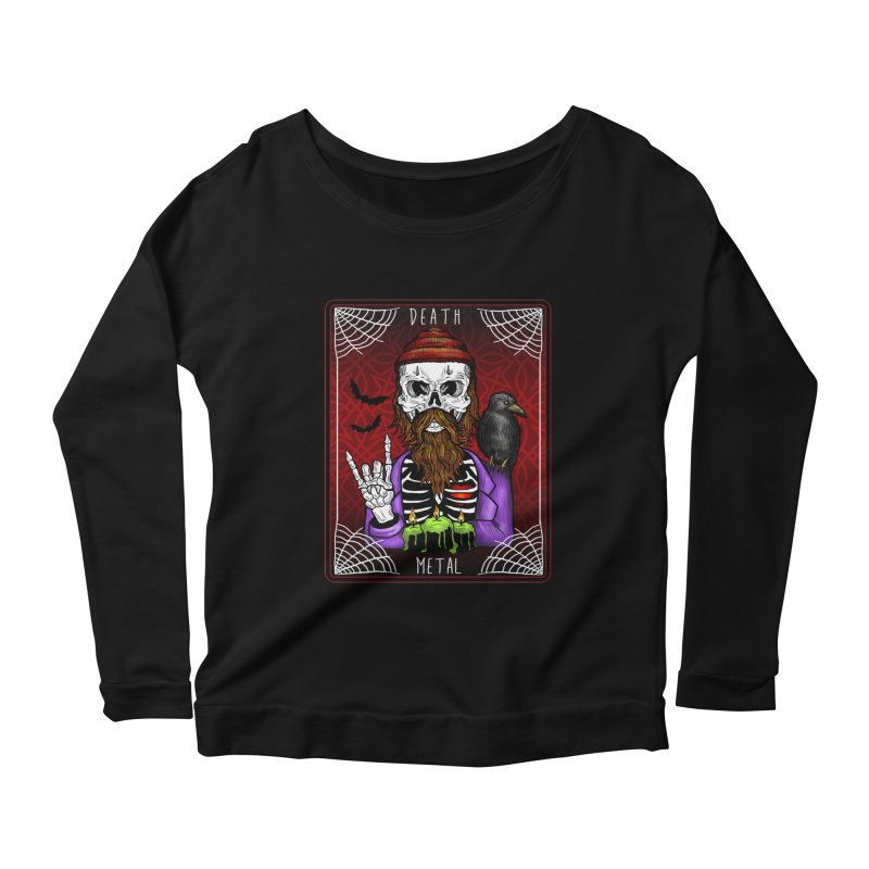 Death Metal Tarot Women's Scoop Neck Longsleeve T-Shirt by Angela Tarantula