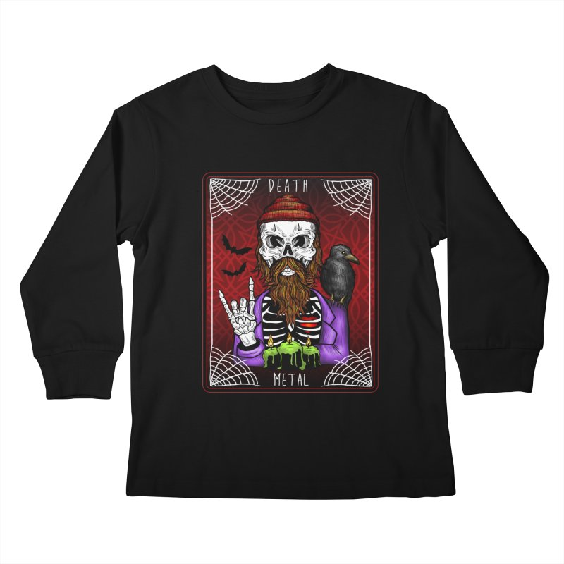 Death Metal Tarot Kids Longsleeve T-Shirt by Angela Tarantula