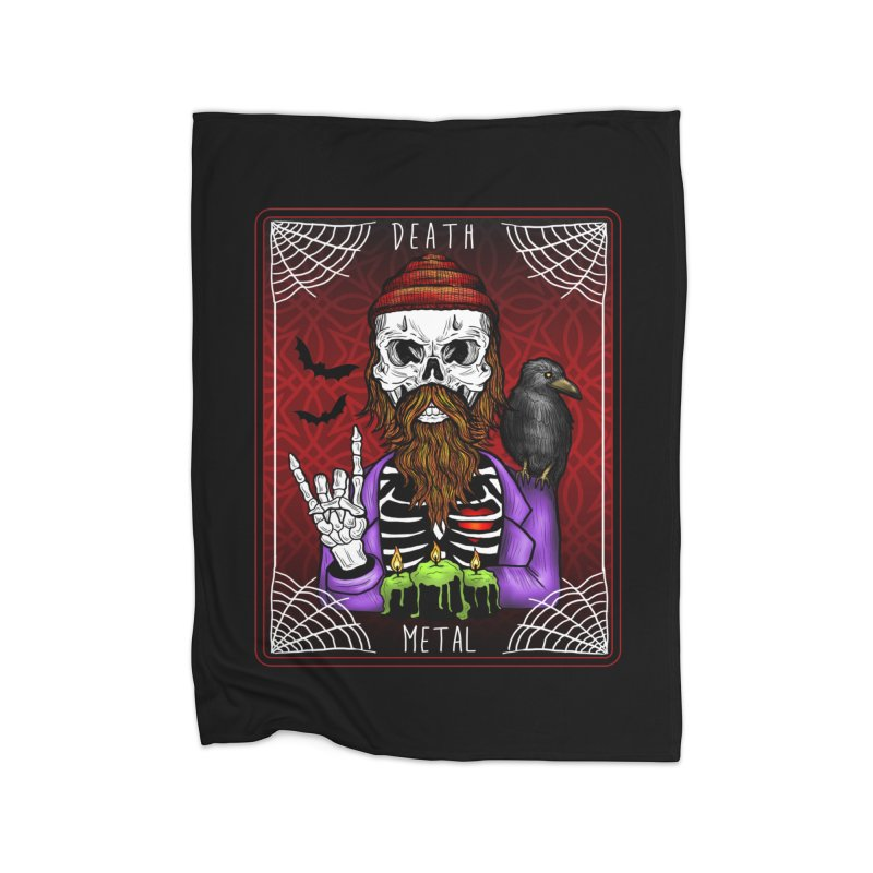 Death Metal Tarot Home Blanket by Angela Tarantula