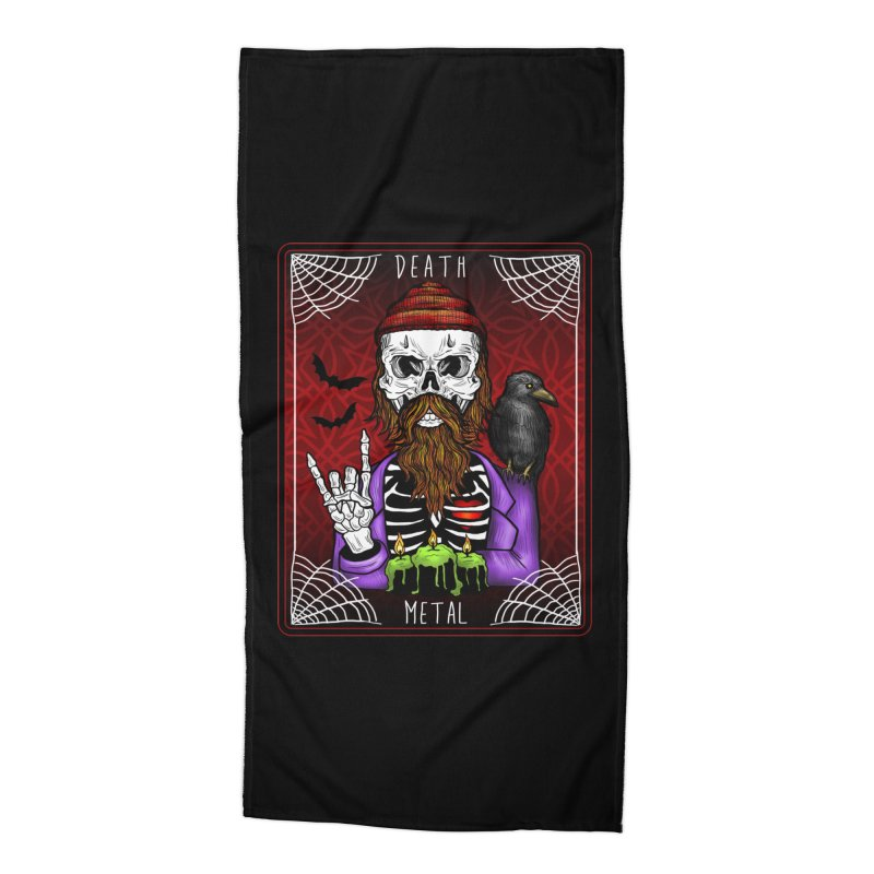 Death Metal Tarot Accessories Beach Towel by Angela Tarantula
