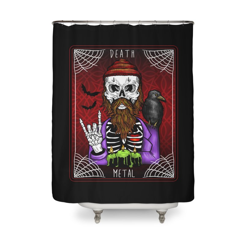 Death Metal Tarot Home Shower Curtain by Angela Tarantula