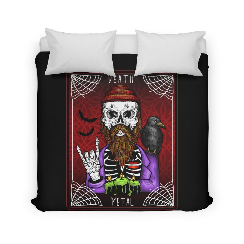 Death Metal Tarot Home Duvet by Angela Tarantula