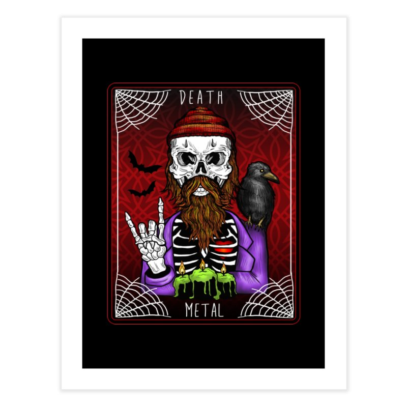 Death Metal Tarot Home Fine Art Print by Angela Tarantula
