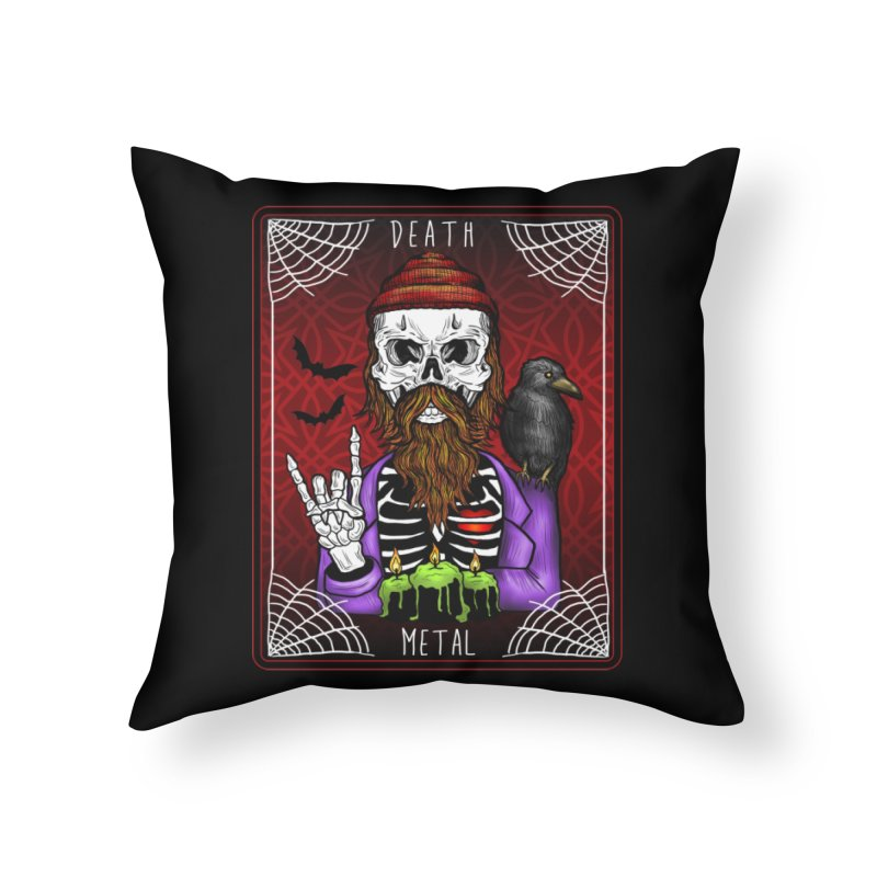 Death Metal Tarot Home Throw Pillow by Angela Tarantula