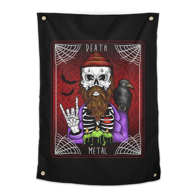 Death Metal Tarot Home Tapestry by Angela Tarantula