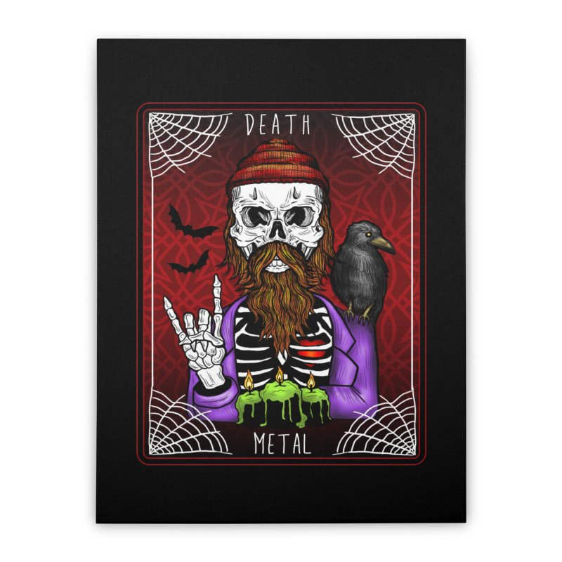 Death Metal Tarot Home Stretched Canvas by Angela Tarantula