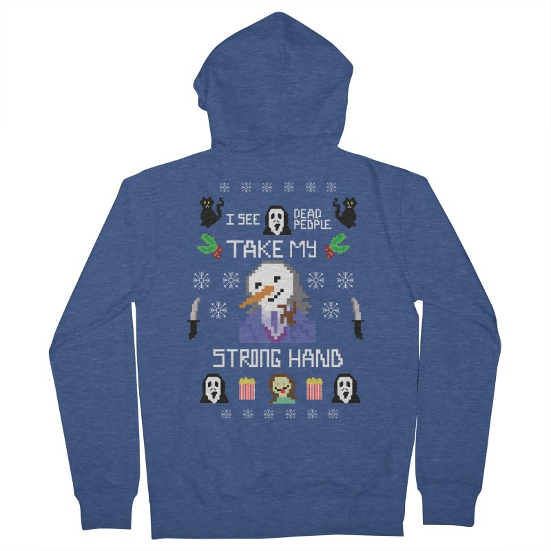 Take My Strong Hand Men's French Terry Zip-Up Hoody by Angela Tarantula