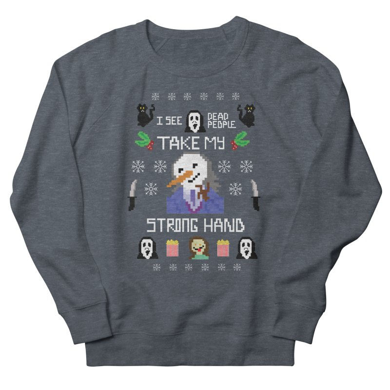 Take My Strong Hand Men's French Terry Sweatshirt by Angela Tarantula