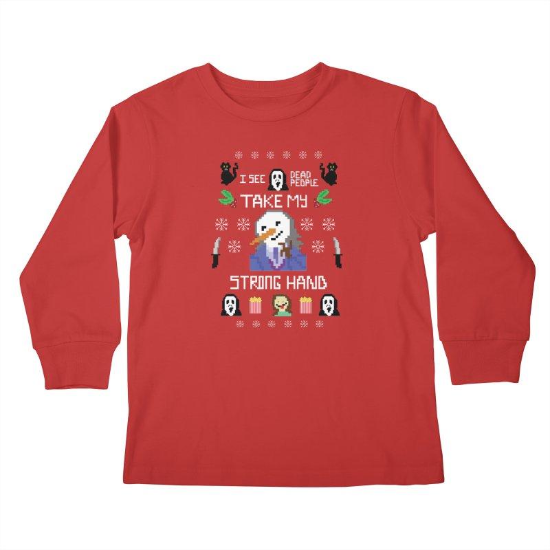 Take My Strong Hand Kids Longsleeve T-Shirt by Angela Tarantula