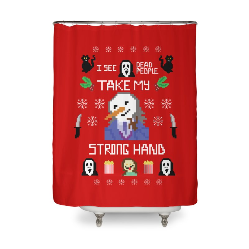 Take My Strong Hand Home Shower Curtain by Angela Tarantula