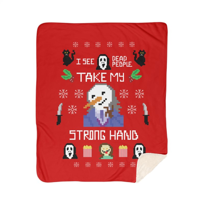 Take My Strong Hand Home Sherpa Blanket Blanket by Angela Tarantula