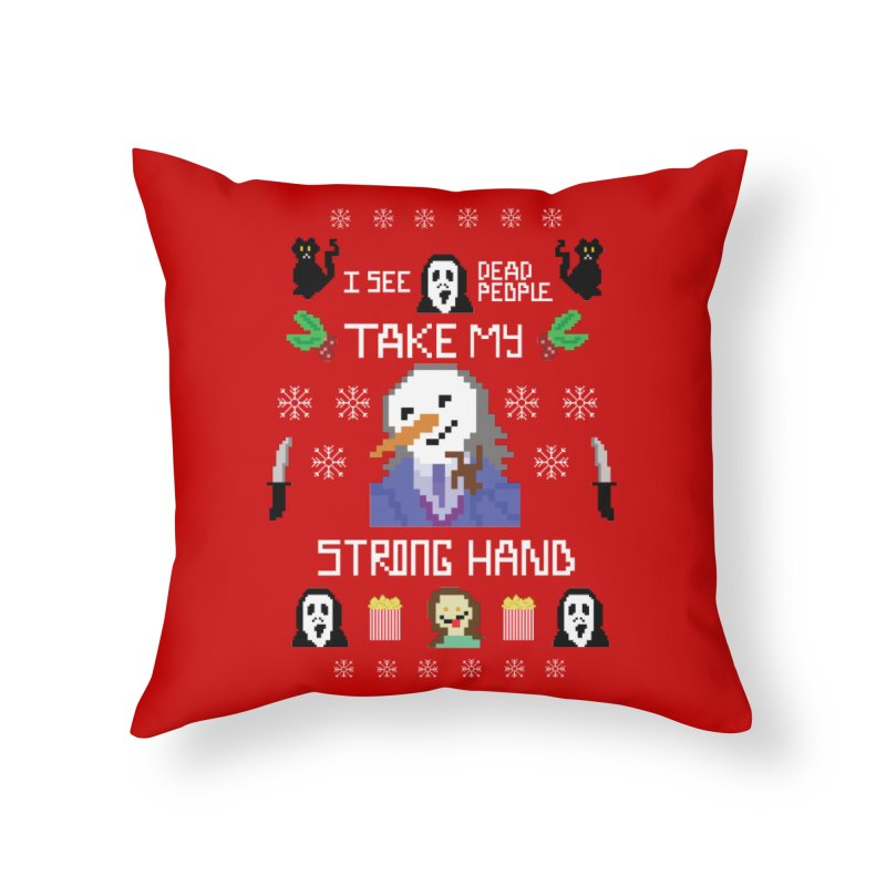 Take My Strong Hand Home Throw Pillow by Angela Tarantula