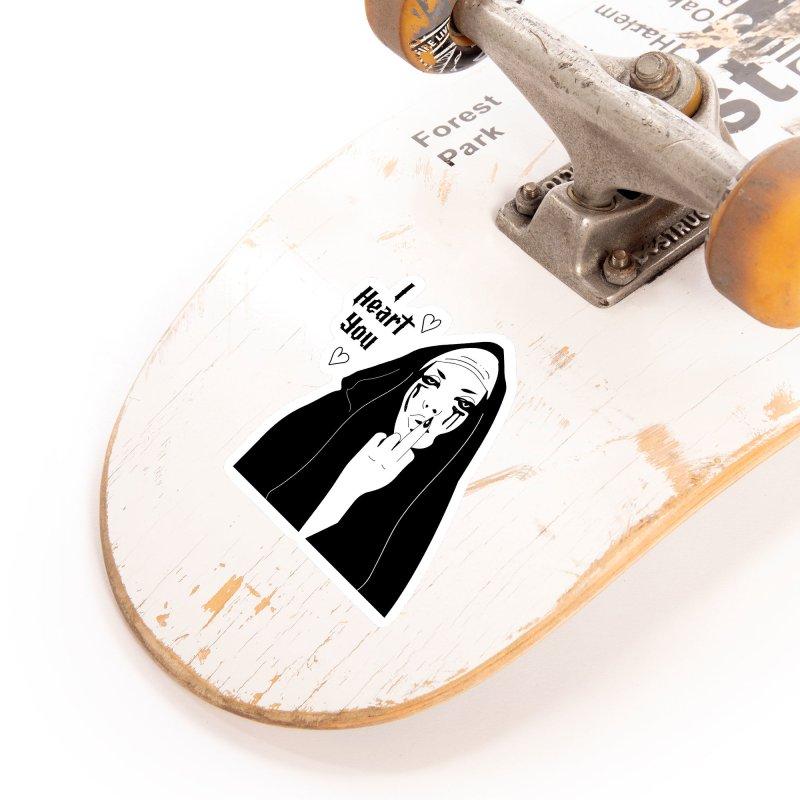 I Heart You Accessories Sticker by Angela Tarantula