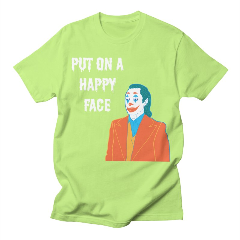 Put On A Happy Face Men's Regular T-Shirt by Angela Tarantula