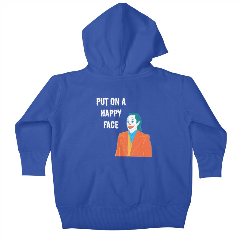 Put On A Happy Face Kids Baby Zip-Up Hoody by Angela Tarantula