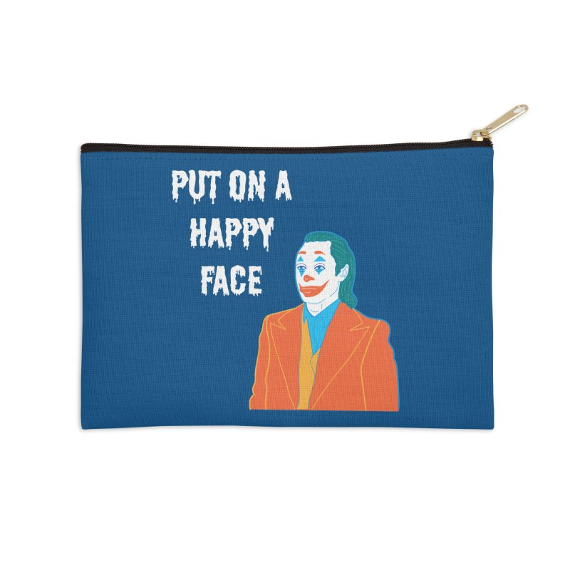 Put On A Happy Face Accessories Zip Pouch by Angela Tarantula